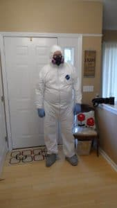 ASHI Home Inspector ready for Mold Inspection